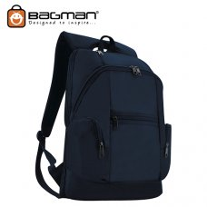 Bagman Laptop Backpack S02-342LAP-02 Navy Blue