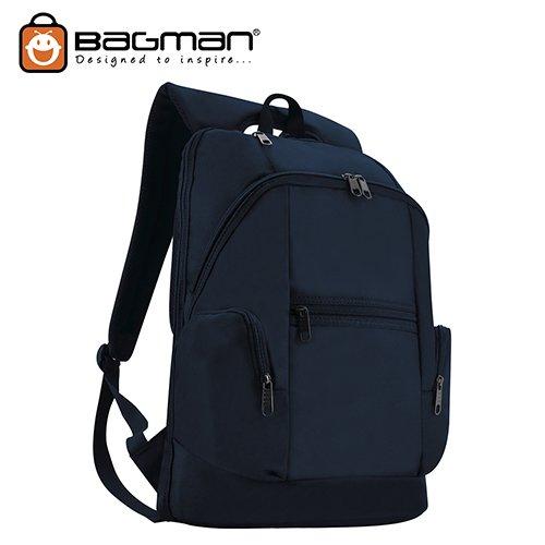 Bagman Laptop Backpack S02-342LAP-02 Navy Blue