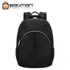 Bagman Laptop Backpack S02-375LAP-01 Black