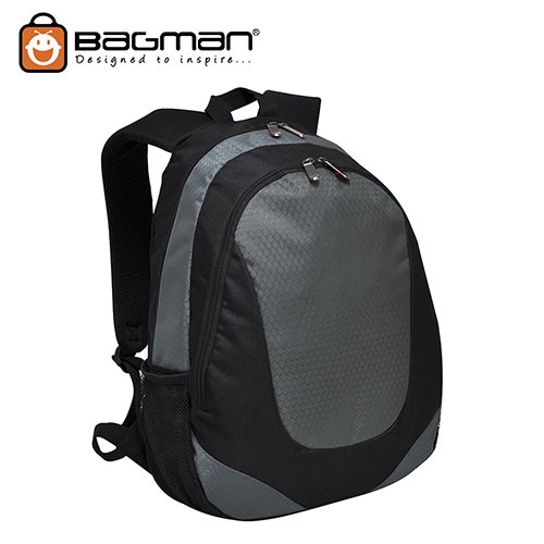 Bagman Day Pack S02-384STD-07 Grey Backpack