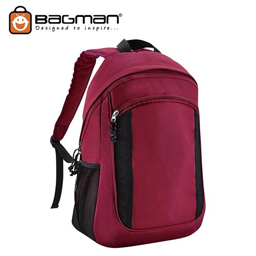 Bagman Day Pack S02-444STD-09 Maroon Backpack