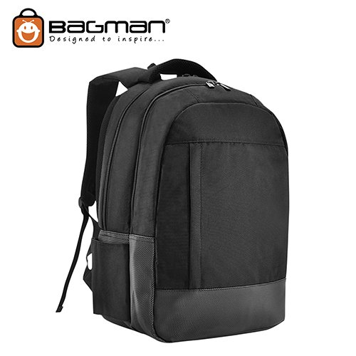Bagman Laptop Backpack S02-499LAP-01 Black
