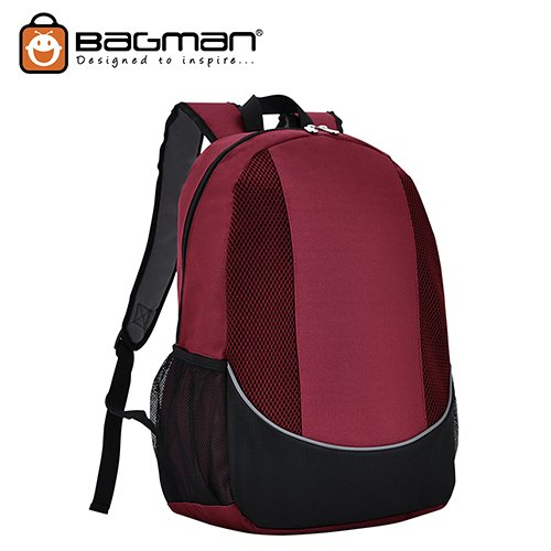 Bagman Day Pack S02-500STD-09 Maroon Backpack