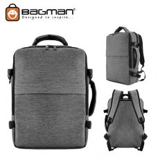 Bagman Laptop Backpack S02-514LAP-07 Grey