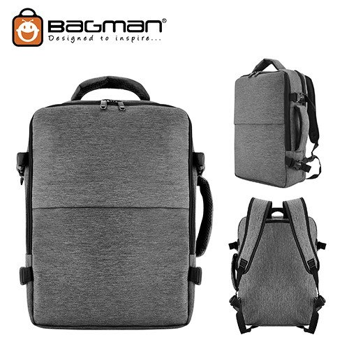 Bagman Laptop Backpack S02-514LAP-07 Grey