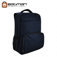 Bagman Laptop Backpack S02-522LAP-02 Navy Blue
