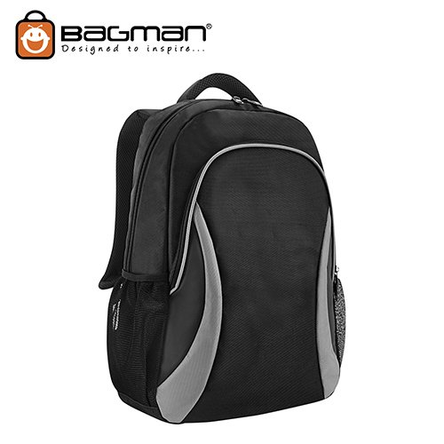 Bagman Laptop Backpack S02-678LAP-07 Grey
