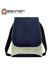 Bagman Netbook Messenger Bag S04-227SLB-02 Navy Blue