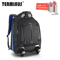 Terminus Invisible Roller 3 Trolley Backpack - Blue