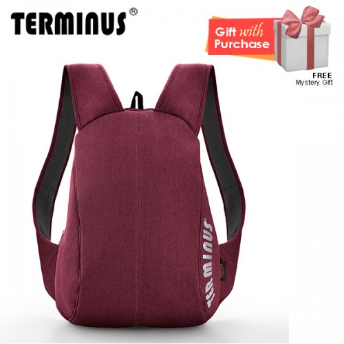 Terminus Simpli-City Denim Backpack - Maroon
